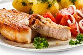 stock photo of boil  - Pork chop - JPG