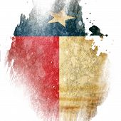 pic of texans  - Texan flag with some grunge effects and lines - JPG