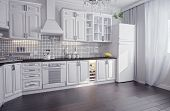 modern kitchen interior (3D render)