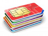 picture of micro-sim  - Creative abstract mobile telecommunication - JPG