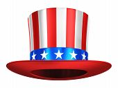 stock photo of uncle  - Creative abstract USA traditional symbol and US flag color concept - JPG