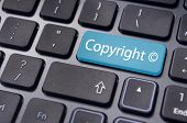 image of stolen  - message on keyboard enter key to illustrate the concepts of copyright - JPG