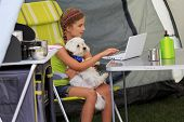 stock photo of tent  - Summer camp  - JPG