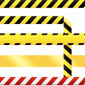 stock photo of crime scene  - Caution or cuidado warning tape - JPG