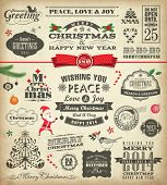 picture of christmas claus  - Christmas design elements in vintage style - JPG