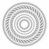 stock photo of lasso  - Circle rope illustration vector - JPG