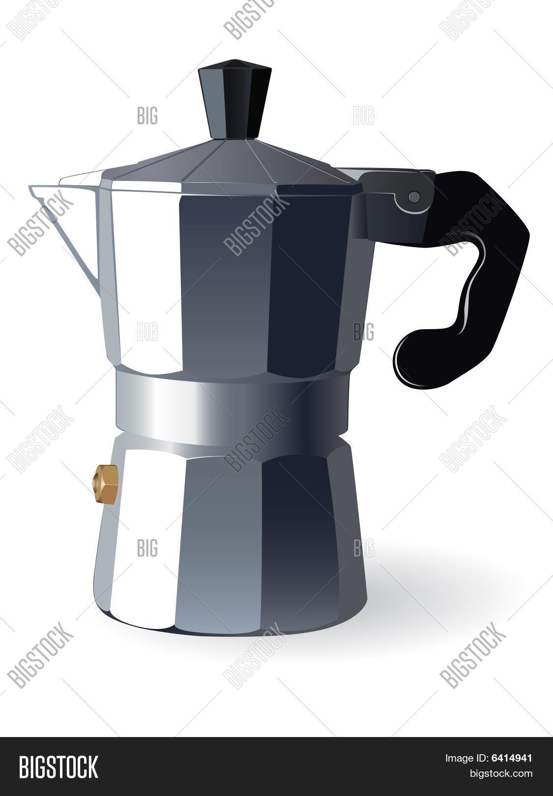 Italian Coffee Maker Vector : Italian Espresso Machine Vector & Photo Bigstock
