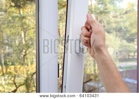 Hand Open Plastic Window