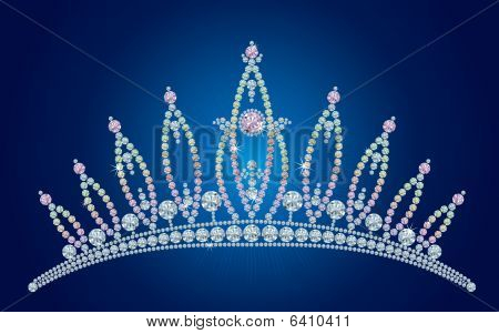 Diamond tiara - bridal, princess or beauty queen /  vector illustrations /  layers are separated