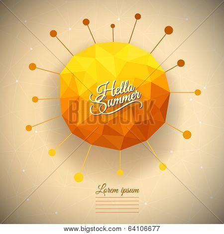 Vector triangle summer sun