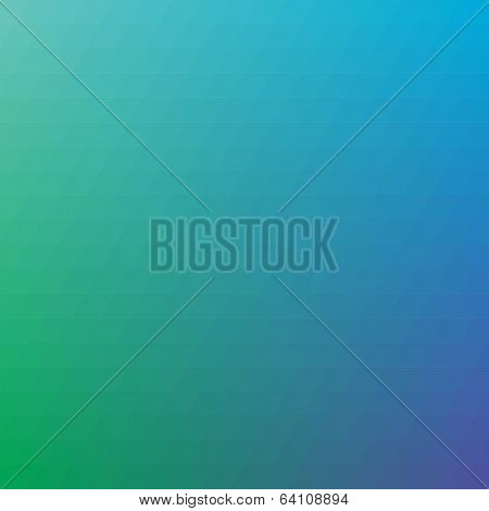 Green-blue triangular background. Colorful hipster pattern with triangle mosaic.