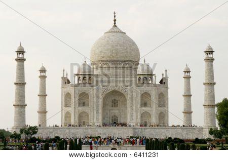 Beautiful Mosque Taj Mahal. Agra, India