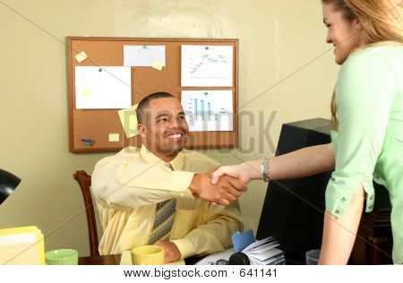Job Interview Shaking Hands