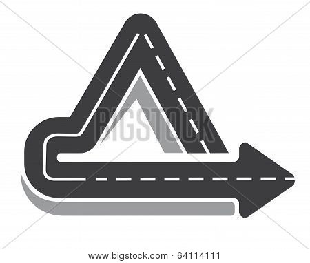 Looping triangular tarred highway