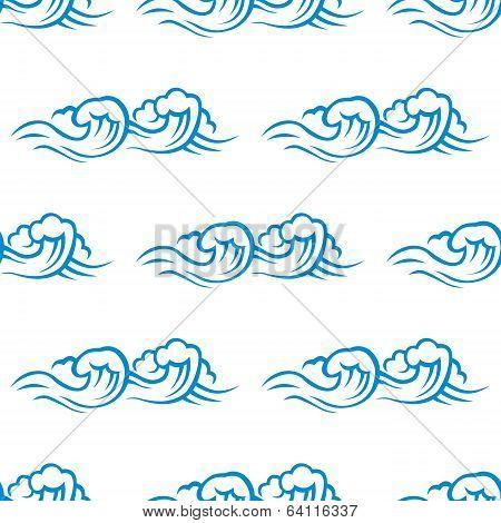Seamless pattern of cresting ocean waves