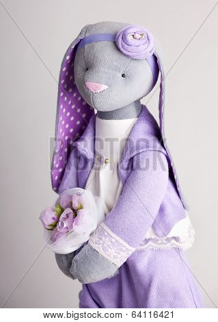 Soft toy rabbit. Handwork