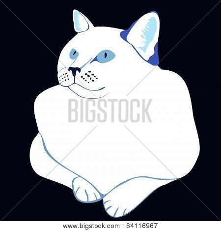 Stylized White Cat