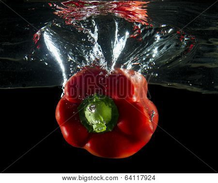 red pepper underwater