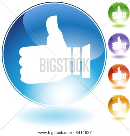 Thumbs Up Crystal Icon