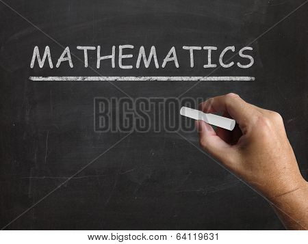 Mathematics Blackboard Means Geometry Calculus Or Statistics