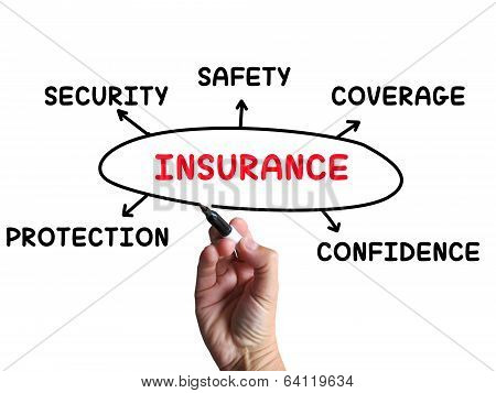 Insurance Diagram Means Coverage Safeguard And Insuring