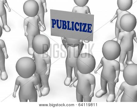 Publicize Board Character Shows Product Advertising Or Business