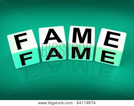 Fame Refers To Famous Renowned Or Notable Celebrity