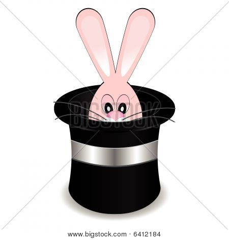 Magician Hat With Rabbit
