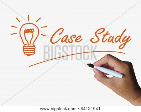 Case Study And Lightbulb Indicate Concepts Ideas And Research