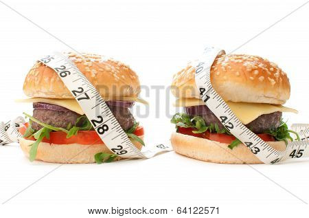 Burgers With Tape Measure