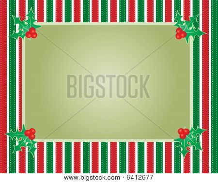Striped Christmas Background