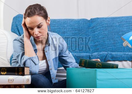 Tired Woman During Moving House