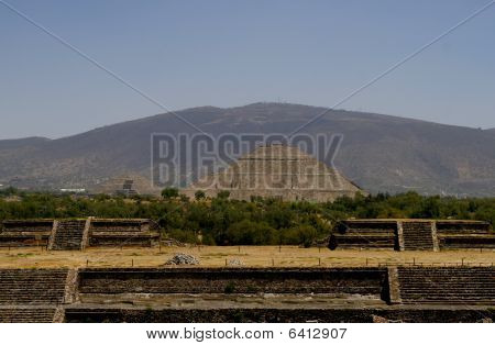 Pyramid Of The Sun In Teotihuacan Pyramid Complex, Mexico