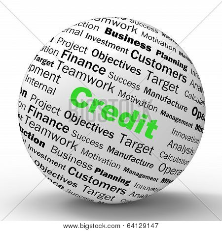 Credit Sphere Definition Shows Cashless Purchases Or Financial L