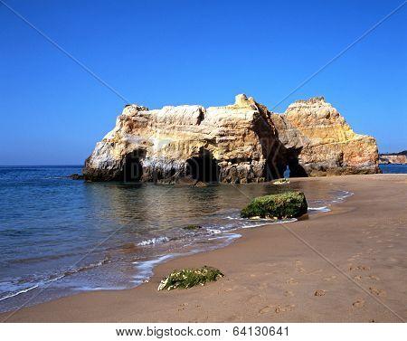 Beach, Praia da Rocha, Portugal.
