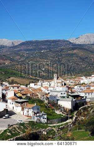 White village, Rio Gordo, Spain.