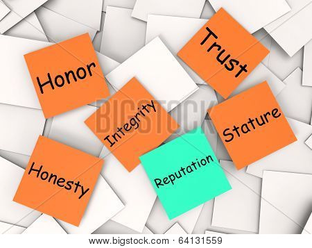Reputation Note Means Integrity Honesty And Credibility