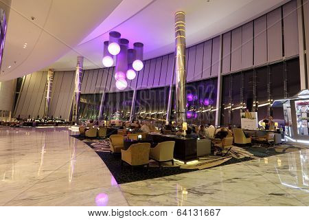 Cafe In Etihad Towers In Abu Dhabi
