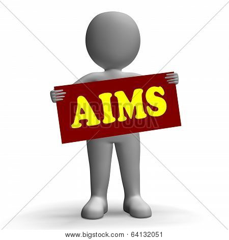 Aims Sign Character Means Aspirations And Goals