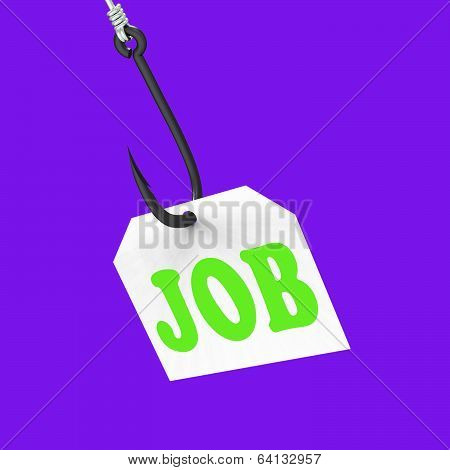 Job On Hook Means Professional Employment Or Occupation