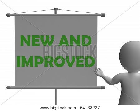 New And Improve Board Shows Innovation And Improvement