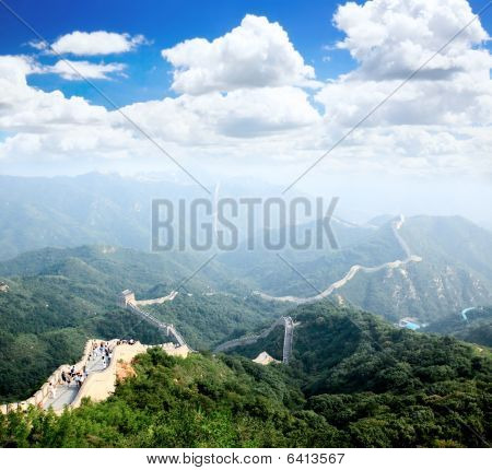 The Great Wall At Badaling Near Beijing