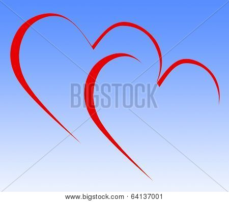 Intertwined Hearts Show Engagement Wedding And Marriage