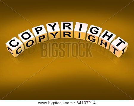 Copyright Blocks Show Patent And Trademark For Protection