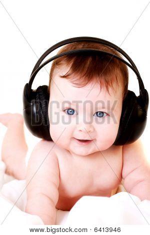 Baby With Earphones
