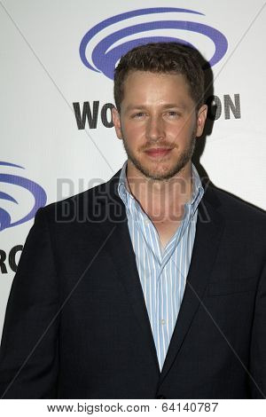 "APRIL 19-ANAHEIM, CA:  Josh Dallas arrives at the 2014 Annual Wondercon press room for ""Once Upon A Time"" on April 19, 2014 in Anaheim, CA."