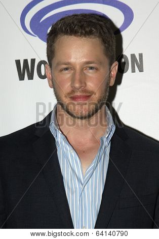 """APRIL 19-ANAHEIM, CA:  Josh Dallas arrives at the 2014 Annual Wondercon press room for """"Once Upon A Time"""" on April 19, 2014 in Anaheim, CA."""