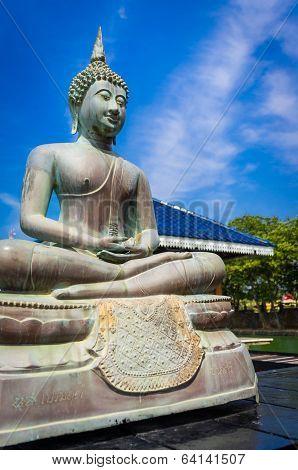 Buddha in Gangarama Buddhist Temple, Sri Lanka
