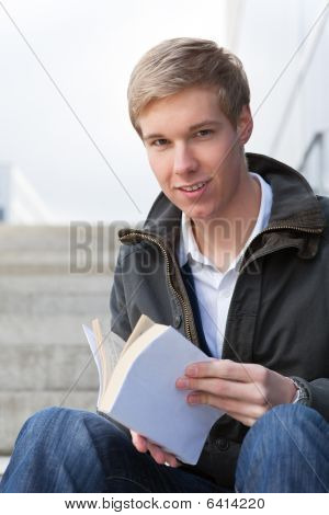 Young Guy With Book