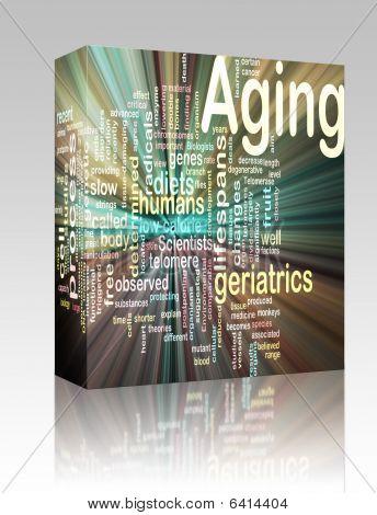 Aging Word Cloud Glowing Box Package